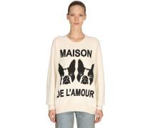 BAUMWOLLSWEATSHIRT 'MAISON DE L'AMOUR'