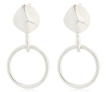 ORGANIC SHAPE EARRINGS WITH HOOP CHARM