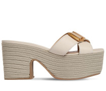 100MM LES TATANES LEATHER SANDALS