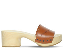 50MM LEATHER CLOGS