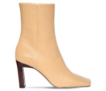 85MM LEATHER ANKLE BOOTS