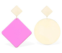 CIRCLE & SQUARE DROP EARRINGS