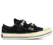 VELCRO VULCANIZED CANVAS LOWTOP SNEAKERS