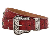 35MM EMBOSSED VINTAGE LEATHER BELT