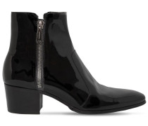 55MM ZIP PATENT LEATHER ANKLE BOOTS