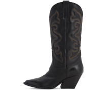 70MM LEATHER TALL COWBOY BOOTS