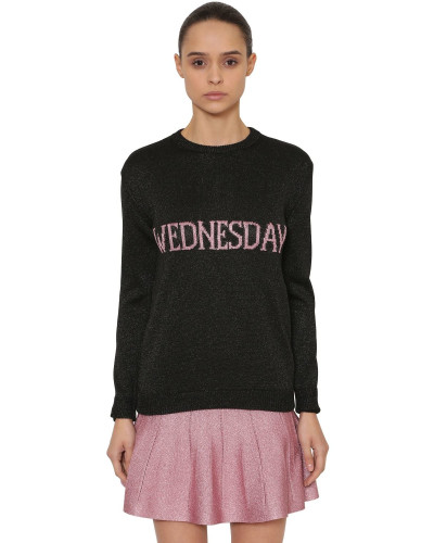 OVERSIZED PULLOVER AUS LUREXSTRICK 'WEDNESDAY'