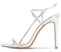 120MM METALLIC FAUX LEATHER SANDALS