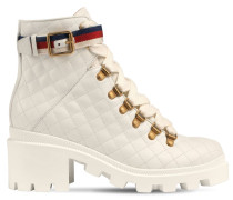 40MM TRIP QUILTED LEATHER BOOTS
