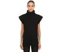 WOOL & CASHMERE BLEND SLEEVELESS PULLOVER