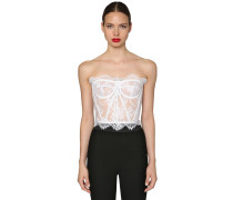 CHANTILLY LACE BUSTIER TOP