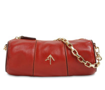 MINI CYLINDER LEATHER SHOULDER BAG