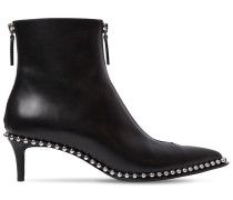 50MM ERI LOW STUDDED LEATHER ANKLE BOOTS