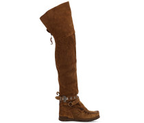 70MM OVERKNEE-STIEFEL AUS WILDLEDER 'MALEFICENT'