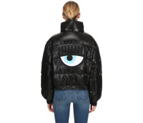 EYE PATCH METALLIC DOWN JACKET