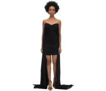 DRAPED SATIN ENVERS  MINIKLEID