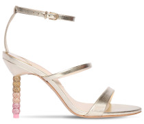 85MM ROSALIND METALLIC LEATHER SANDALS