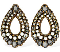 CRYSTAL & FAUX PEARL CLIP-ON EARRINGS