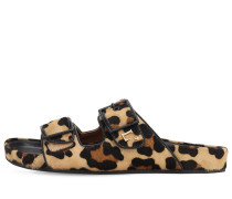 10MM LEOPARD PRINT PONY SKIN SANDALS