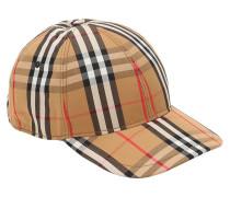 VINTAGE CHECKED COTTON BASEBALL CAP