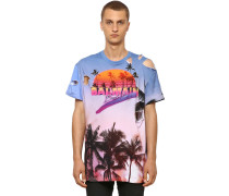 OVERSIZE DESTROYED COTTON JERSEY T-SHIRT