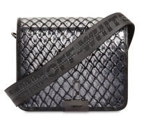 MEDIUM GRID PVC SHOULDER BAG