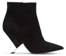 90MM X BLADE SUEDE ANKLE BOOTS
