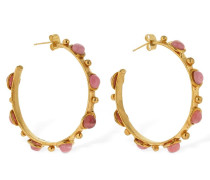 PETITE CANDIES HOOP EARRINGS W/STONES