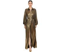 FLUID LAMÉ LONG SHIRT DRESS