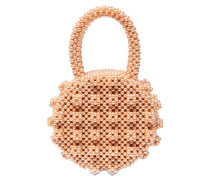 SELENA ROUND BEADED TOP HANDLE BAG
