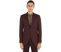 JACQUARD COTTON LINEN JACKET