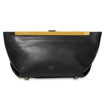 AIMEE FRAME LEATHER CLUTCH