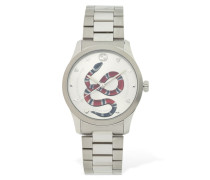 G-TIMELESS RED SNAKE DIAL WATCH