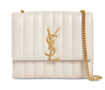 VICKY QUILTED LEATHER CHAIN WALLET BAG