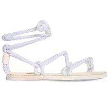 10MM SATIN ROPE THONG FLAT SANDALS