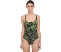 TIGER PRINTED ONE PIECE SWIMSUIT