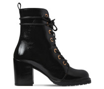 60MM CLIMBING PATENT LEATHER ANKLE BOOTS