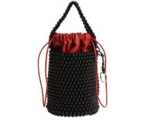 BEAD & LEATHER BUCKET BAG