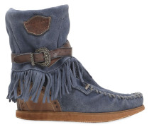 70MM WEDGE-STIEFEL AUS WILDLEDER 'ALENA'