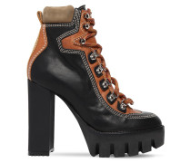 120MM LACE-UP LEATHER HIKING BOOTS