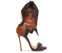 120MM RODEO GIRL LEATHER SANDALS