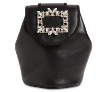 BROCHE MINI LEATHER BACKPACK W/CRYSTALS