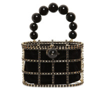 HOLLI PEARLS ROUND TOP HANDLE BAG