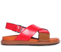 30MM CRISSCROSS LEATHER SANDALS