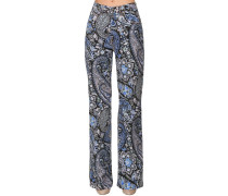 PRINTED DENIM HIGH WAIST BOYFRIEND JEANS