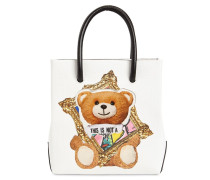 SM TEDDY FAUX LEATHER TOP HANDLE BAG