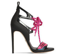 90MM ALTA FREQUENZA LEATHER SANDALS