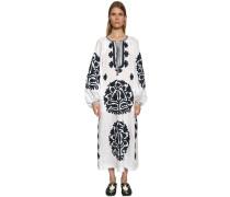 SHALIMAR EMBROIDERED LINEN DRESS