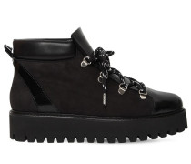 30MM ALMA LEATHER & SHEARLING BOOTS