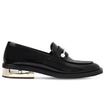 20MM HOHE LEDERLOAFERS MIT PIEERCING 'ABBY'